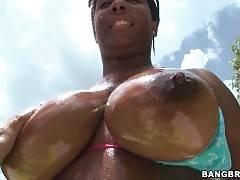Yummy Black Babe Anna Halo Owns Huge Tits 1