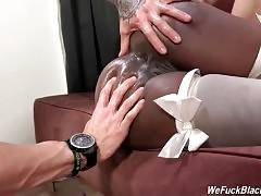 Black Cutie Gets Her Mouth And Ass Fucked 1