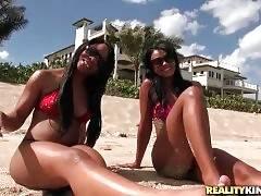 Harley Dean And Nina Have Fun At The Beach 1