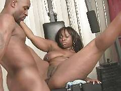 Ebony bbw Skyy Black and her boyfriend engage in sex games in this scene. They start off by engaging in sensual foreplay. Her boyfriends gets playful and heads down south. He parts her thighs wide and started fucking her black pussy, driving her to c