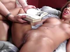 Pretty Black Babe Gets Her Pussy Spunked 2