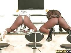 Ebonies Danielle Reid And Daisey Shake Their Booties 2