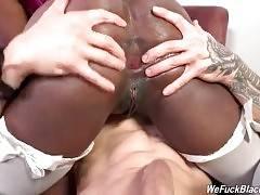 Chocolate Hottie Has Fun With White Guys 2