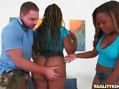 Slutty Ebony Babes Shake Their Massive Booties 3