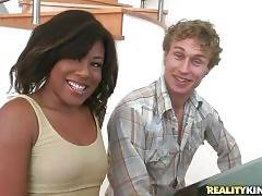 Michael Vegas gives cute ebonie Serenity Evans a lesson of playing the piano.